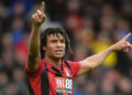 BOURNEMOUTH, ENGLAND - NOVEMBER 02: Nathan Ake of Bournemouth signals during the Premier League match between AFC Bournemouth and Manchester United at Vitality Stadium on November 02, 2019 in Bournemouth, United Kingdom. (Photo by Mike Hewitt/Getty Images)