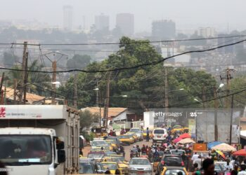 YAOUNDE, CAMEROON - FEBRUARY 17: A general view of a street in Yaounde on Februray 17, 2018 in Yaounde,Cameroon. (Photo by Franco Origlia/Getty Images)